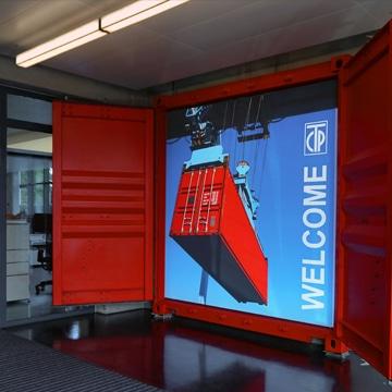 Luminatore-Wandbild-Inneneinrichtung-Eingangsbereich
