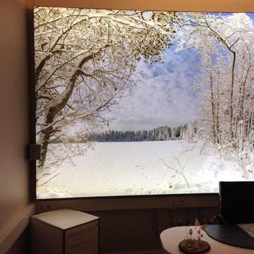 Luminatore-Wandbild-Winterlandschaft