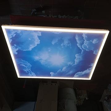 Praxisbeleuchtung: Medical-Light, Schaltoption dekoratives Licht aus, Arbeitsplatzleuchte ein